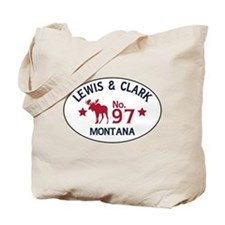 Lewis Clark Moose Badge Tote Bag
