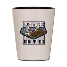 Lewis Clark Mountain Top Moose Shot Glass