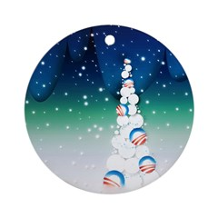 Barack Obama Snowball Christmas Tree Ornament (Rou