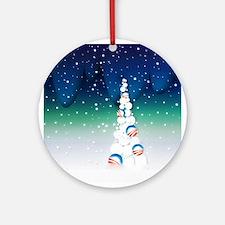 Barack Obama Snowball Christmas Tree Ornament (Rou