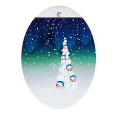 Barack Obama Snowball Christmas Tree Ornament (Ova