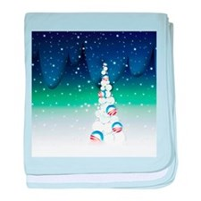 Barack Obama Snowball Christmas Tree baby blanket