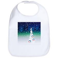 Barack Obama Snowball Christmas Tree Bib