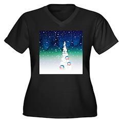 Barack Obama Snowball Christmas Tree Women's Plus