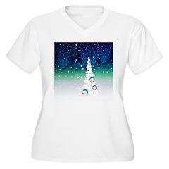 Barack Obama Snowball Christmas Tree T-Shirt