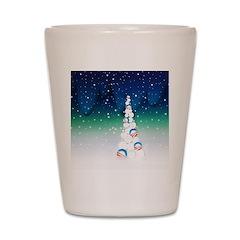 Barack Obama Snowball Christmas Tree Shot Glass