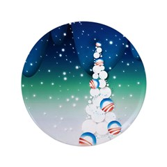 "Barack Obama Snowball Christmas Tree 3.5"" Button"
