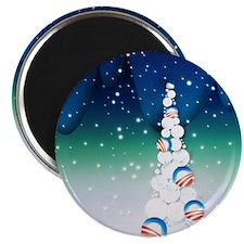 Barack Obama Snowball Christmas Tree Magnet