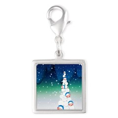 Barack Obama Snowball Christmas Tree Silver Square