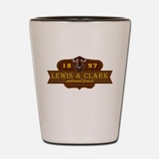 Lewis Clark National Park Crest Shot Glass
