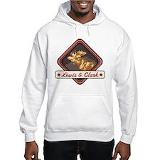 Lewis Clark Pop-Moose Patch Hoodie Sweatshirt