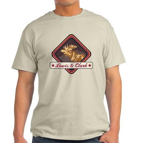 Lewis Clark Pop-Moose Patch Light T-Shirt