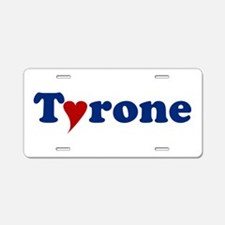 Tyrone with Heart Aluminum License Plate