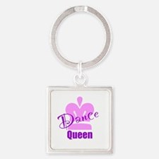 Dance Queen Square Keychain