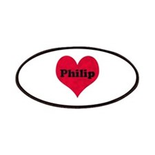 Philip Leather Heart Patch