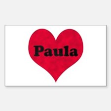 Paula Leather Heart Rectangle Decal
