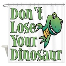 Dont Lose Your Dinosaur Shower Curtain