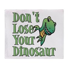 Dont Lose Your Dinosaur Throw Blanket