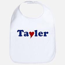 Tayler with Heart Bib