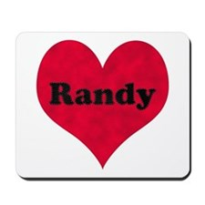 Randy Leather Heart Mousepad