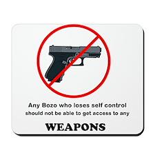 No Guns Black Mousepad
