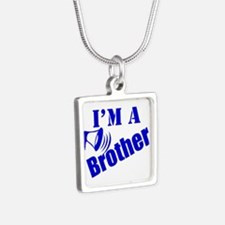 Im A Brother Silver Square Necklace