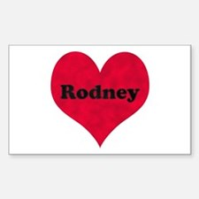Rodney Leather Heart Rectangle Decal