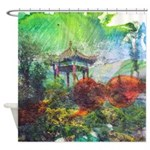 Lilies Collage Shower Curtain