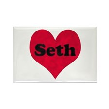 Seth Leather Heart Rectangle Magnet
