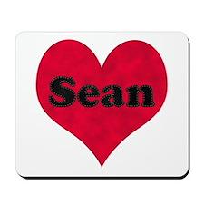 Sean Leather Heart Mousepad