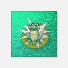 "Princess frog Square Sticker 3"" x 3"""