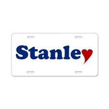 Stanley with Heart Aluminum License Plate