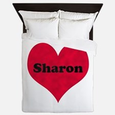 Sharon Leather Heart Queen Duvet
