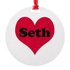 Seth Leather Heart Ornament