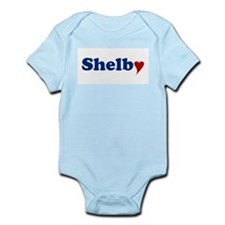 Shelby with Heart Onesie