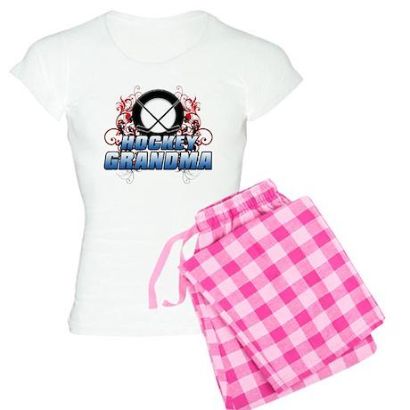 Hockey Grandma (cross).png Women's Light Pajamas