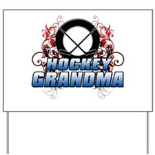 Hockey Grandma (cross).png Yard Sign