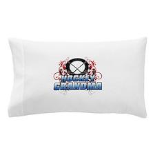 Hockey Grandma (cross).png Pillow Case