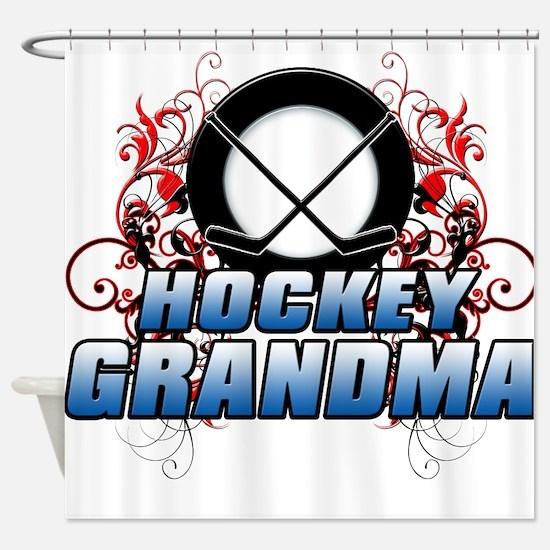 Hockey Grandma (cross).png Shower Curtain