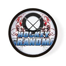 Hockey Grandma (cross).png Wall Clock