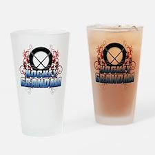 Hockey Grandma (cross).png Drinking Glass