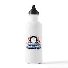 Hockey Grandma (cross).png Water Bottle