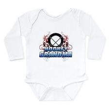 Hockey Grandma (cross).png Long Sleeve Infant Body