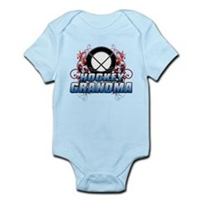 Hockey Grandma (cross).png Infant Bodysuit