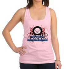 Hockey Grandma (cross).png Racerback Tank Top