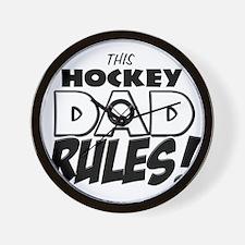 This Hockey Dad Rules.png Wall Clock
