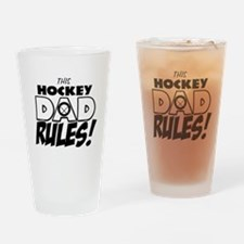 This Hockey Dad Rules.png Drinking Glass