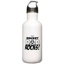 This Hockey Dad Rocks copy.png Water Bottle