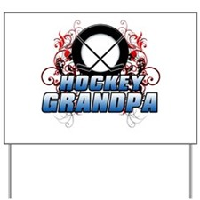 Hockey Grandpa (cross).png Yard Sign