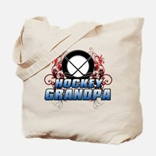 Hockey Grandpa (cross).png Tote Bag